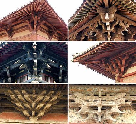 实际运用中出现了将这几种屋顶组合成更复杂的形式,例如滕王阁,黄鹤楼
