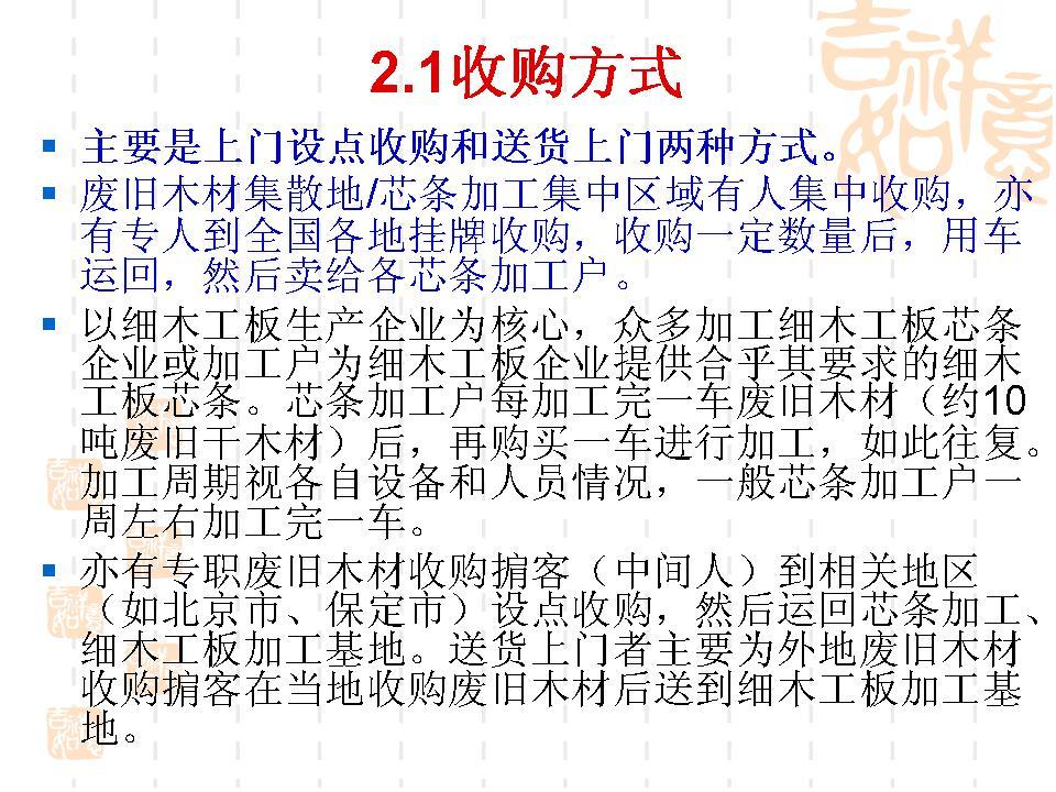 河北省废旧木材回收利用现状和存在问题分析