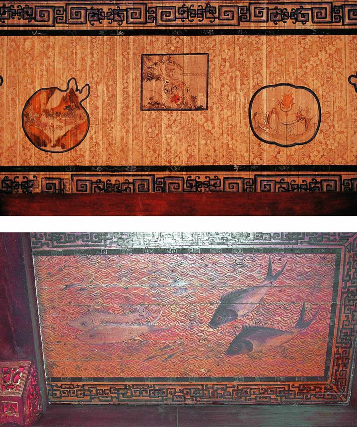 古建筑 龙纹木雕图片