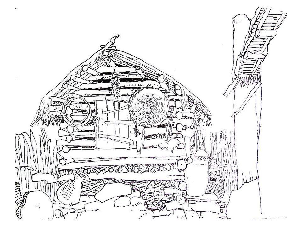 木屋景观手绘线稿