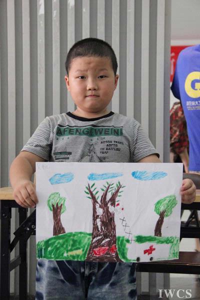 小学生保护森林绘画作品