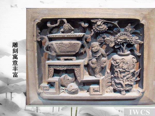 徽州木雕在雕刻手法上有平板线刻
