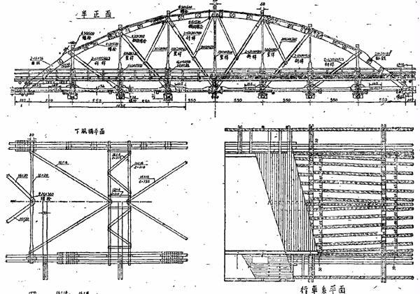 木结构桥梁模型设计图纸